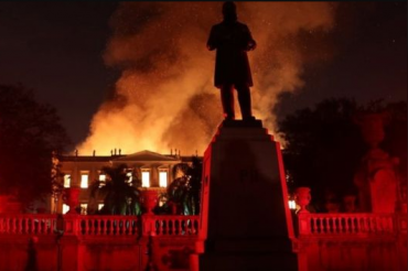 The oldest scientific institution in Brazil caught fire