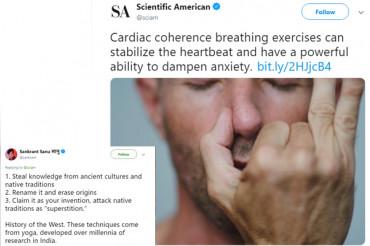 Scientific American gives 'Pranayama' western name, Shashi Tharoor slams them