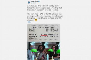 Aussie Cops use Rajnikanth 2.0's memes to talk about drunken driving & it goes viral