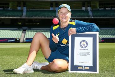 Australia's Alyssa Healy sets new Guinness World Record