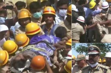 कर्नाटक: धारवाड़ में इमारत के मलबे से एक दंपति को बचाया गया