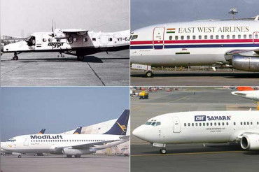 Find out the airlines that collapsed due to financial losses?