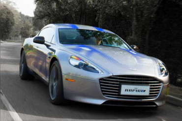 "Aston Martin debuts its electric car ""Rapide E"""