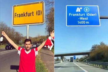 Europe League: Benfica fan travels to Wrong Frankfurt