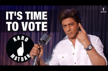 Showing his singing skills, Shah Rukh Khan urges people to cast vote