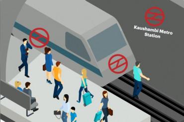 ट्रैक पर कूदा शख्स, मेट्रो के नीचे फंसा, ब्लू लाइन बाधित