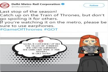 दिल्ली मेट्रो में गेम ऑफ थ्रोन्स का फिनाले देखते वक्त करना होगा यह काम, DMRC ने की अपील