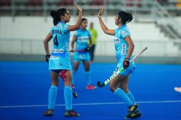 Indian women's hockey team beat South Korea 2-1