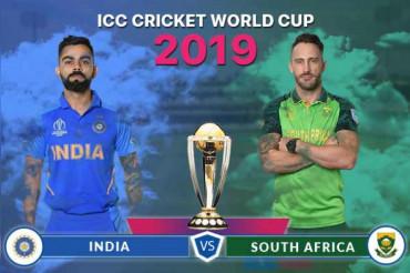 भारत ने SA को 6 विकेट से हराकर SA को लगातार WC 2019 की तीसरी हार दी