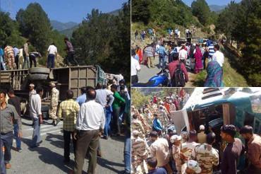 किश्तवाड़ में पलटी बस, ITBP जवानों ने बचाई यात्रियों की जान, दर्जनभर से अधिक घायल
