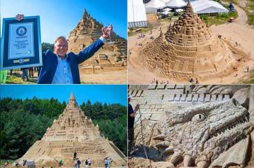 रेत से ही बना डाला Game Of Thrones जैसा किला, बनाया वर्ल्ड रिकॉर्ड