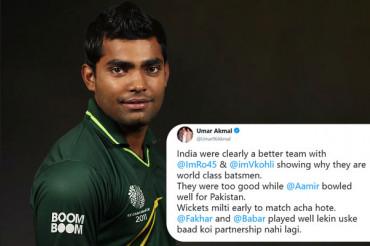 Umar Akmal trolled while praising Pak players